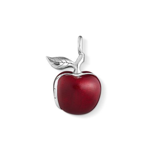 "THOMAS SABO Sterling Silver Glam & Soul Pendant ""Big Red Apple"""