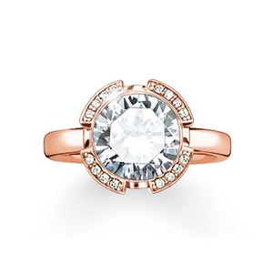 "THOMAS SABO SOLITAIRE RING ""SIGNATURE LINE WHITE PAVÉ"""