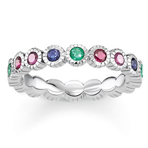 THOMAS SABO RING ROYALTY COLOURFUL STONES